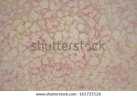A red and yellow colored wall surface - stock photo