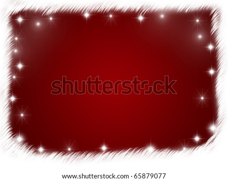 A red background with a white border with stars, red background with copy space