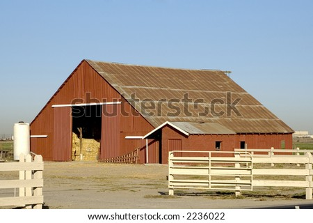 A red barn. - stock photo