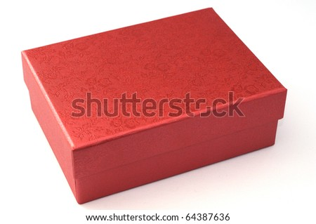 a red box  for chrismas and new year gift - stock photo