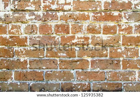 A red brick wall from a building in Savannah, Georgia. - stock photo