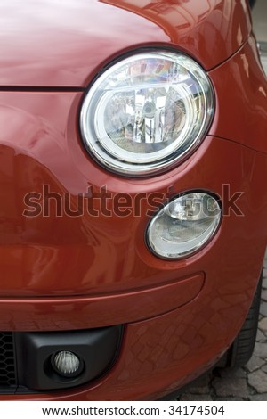 A red car - stock photo
