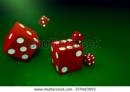 A red dice.