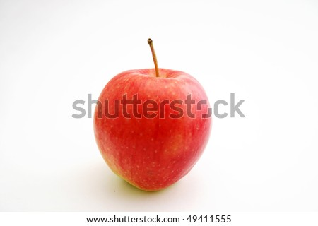 A red flesh apple - stock photo