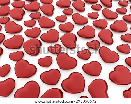 A red heart isolated on white background - stock photo