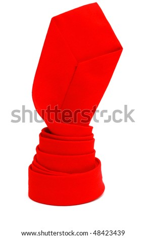 A red tie gift in father day - stock photo