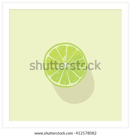A refreshing glass of sparkling water with a slice of juicy lime is all what you need in a sizzling summer afternoon - stock photo