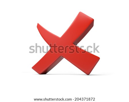 A rejected sign isolated on white background