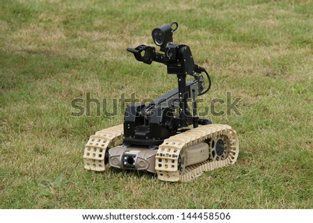 A Remote Control Device Used for Bomb Disposal Work. - stock photo