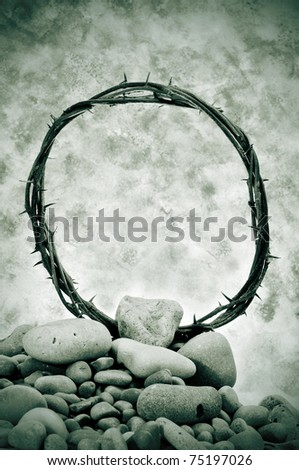 a representation of the crown of thorns of Jesus Christ - stock photo