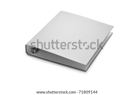 a ring binder isolated on a white background - stock photo