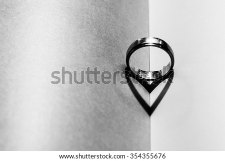 A ring in book to reflect a heart shape (for Valentine day)