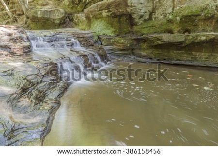 A river gorge in central Wisconsin - stock photo