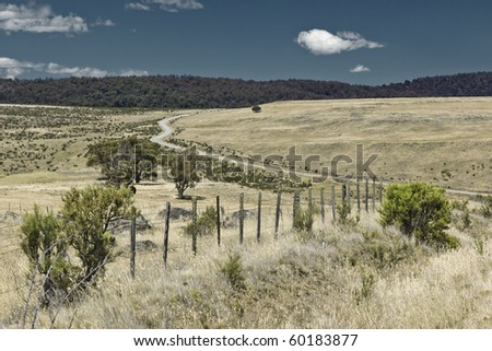 a road in Australia - stock photo