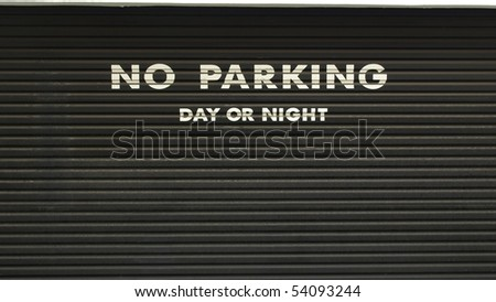A road sign for a no parking area - stock photo