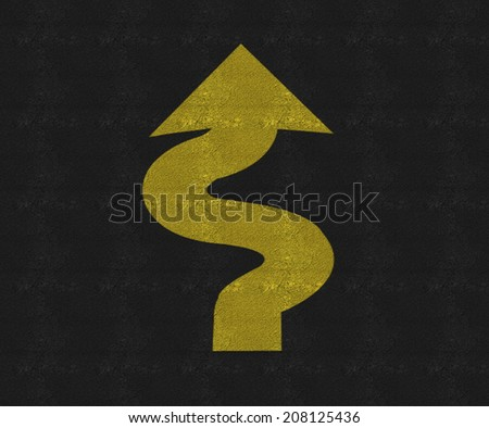 A road traffic sign indicating curves - stock photo