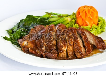 A roast pork dish