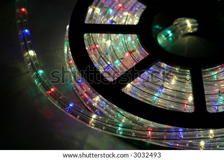 a roll of christmas lights