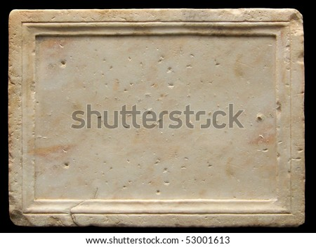 A roman stone where you can write down your ideas - stock photo