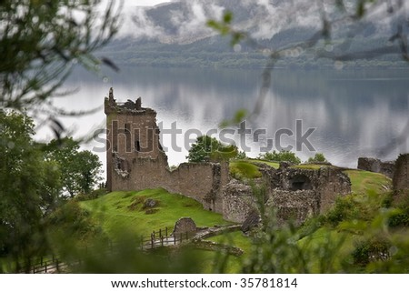 A romantic ruin of Urquhart Castle, Scotland