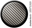 A round button with carbon fiber texture - great for both print and web design. - stock photo