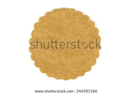 A round paper tag isolated on white - stock photo