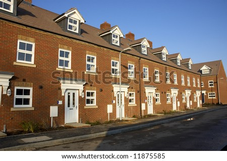 A row of new terraced houses