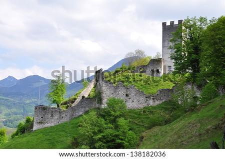 a ruin in Bavaria, Germany - stock photo