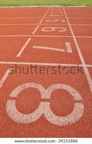 a running lane - stock photo