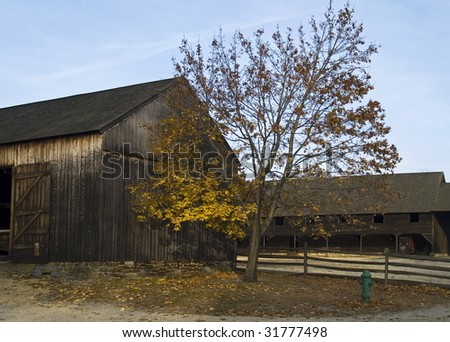 A rural Autumn scene in the historic Batsto Village located in the South Central New Jersey Pinelands.