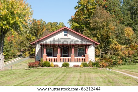 1930s Craftsman Style House Country Autumn Stock Photo ...