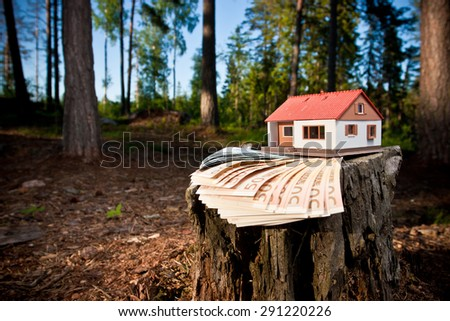 A scale model of the house - stock photo