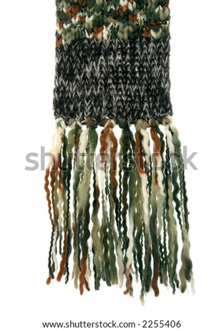 A scarf made of woolen cloth, very warm. - stock photo