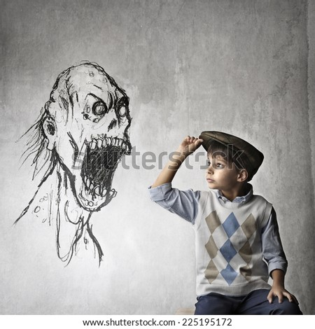 A scary monster  - stock photo
