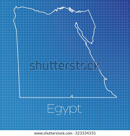 Schematic Outline Country Egypt Stock Illustration 323334335 ...