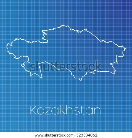 Schematic Outline Country Kazakhstan Stock Illustration 323334062 ...