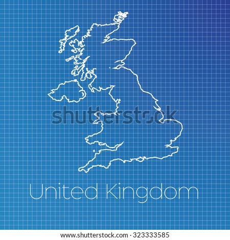 Schematic Outline Country United Kingdom Stock Illustration ...