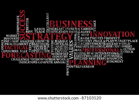 A scramble of business buzz words for backgrounds - stock photo
