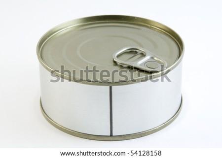 a sealed tuna can - stock photo