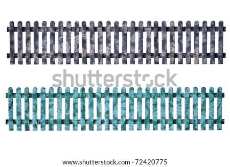 a seamless fence isolated on white - stock photo