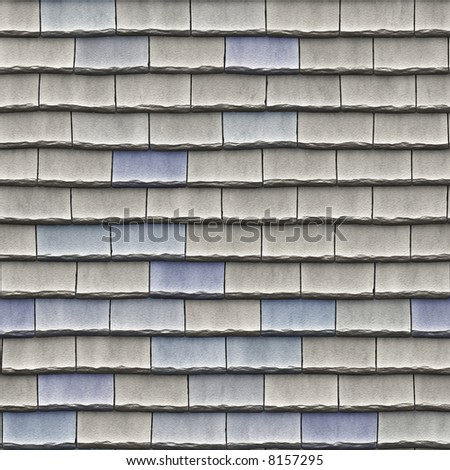 A seamless pattern of roof tiles - stock photo