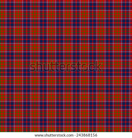 A seamless patterned tile of the clan Cameron of Lochiel tartan. - stock photo