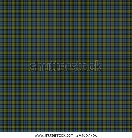 A seamless patterned tile of the clan Campbell tartan. - stock photo