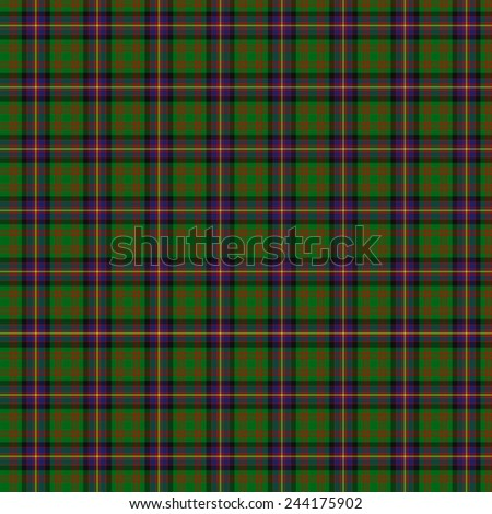 A seamless patterned tile of the clan Cochrane tartan. - stock photo