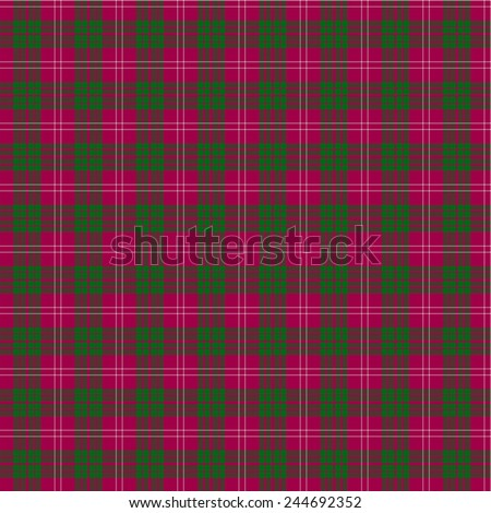 A seamless patterned tile of the clan Crawford tartan. - stock photo