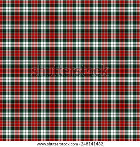 A seamless patterned tile of the clan Graham, Red Dress tartan. - stock photo