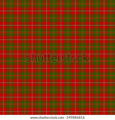 A seamless patterned tile of the clan Hay tartan. - stock photo