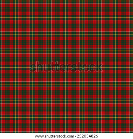 A seamless patterned tile of the clan Hunter (USA) tartan. - stock photo