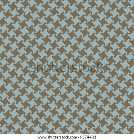 A seamless, repeating houndstooth pattern in blue and olive green. Vector format also available. - stock photo
