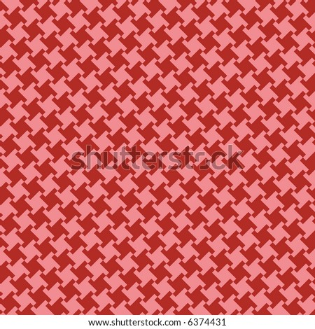 A seamless, repeating houndstooth pattern in red and coral. Vector format also available. - stock photo